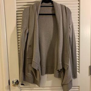 Grey Lululemon Cardigan Size 4
